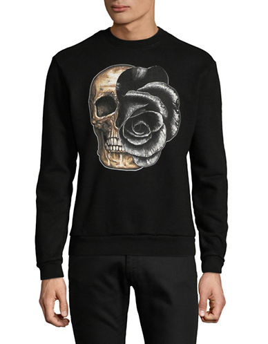 Dom Rebel Skull-Print Cotton Sweatshirt-BLACK-Medium 89762718_BLACK_Medium