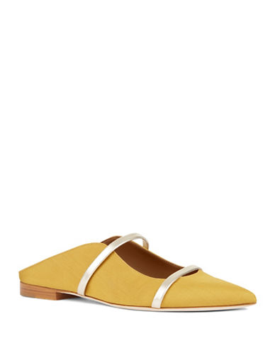 Malone Souliers Maureen Leather Flats-YELLOW-EUR 38/US 8