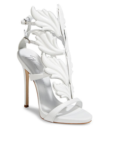 Giuseppe Zanotti Coline Leather Ankle-Strap Sandals-WHITE-EUR 36/US 6