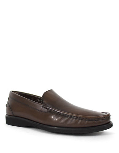 Jay+Dee Man Classic Leather Loafers-BROWN-EU 42/US 9