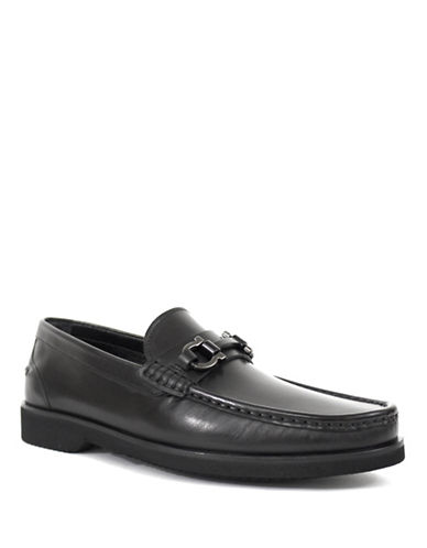 Jay+Dee Man The Levi Buckled Leather Loafers-BLACK-EU 43/US 10