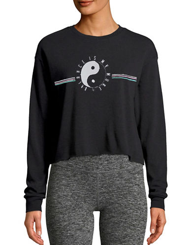 Neoclassics Balance My Muse Cropped Sweatshirt-BLACK-Small