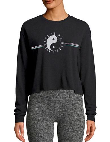 Neoclassics Balance My Muse Cropped Sweatshirt-BLACK-X-Small