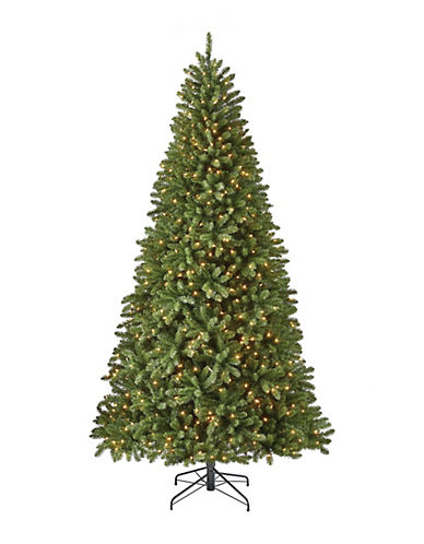 Glucksteinhome 9ft Algonquin Tree with 750 Warm White LED Lights and 2956 Mixed Tips