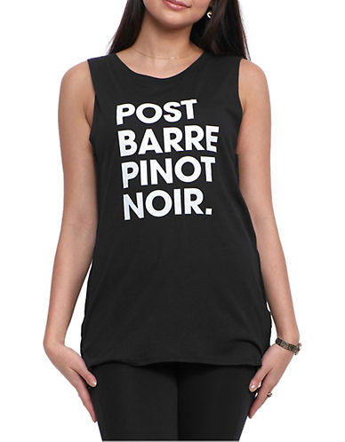 Social Decay Post Barre Pinot Noir Muscle Tank-BLACK-X-Small/Small 90056258_BLACK_X-Small/Small