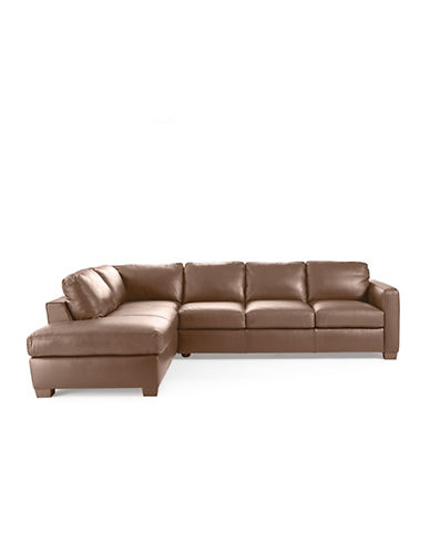 sofa with sectional chaise red stylish sofas anika leather modern