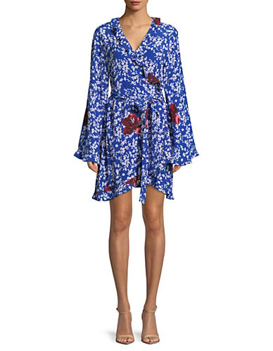 Naomi Printed Wrap Dress by Mlm