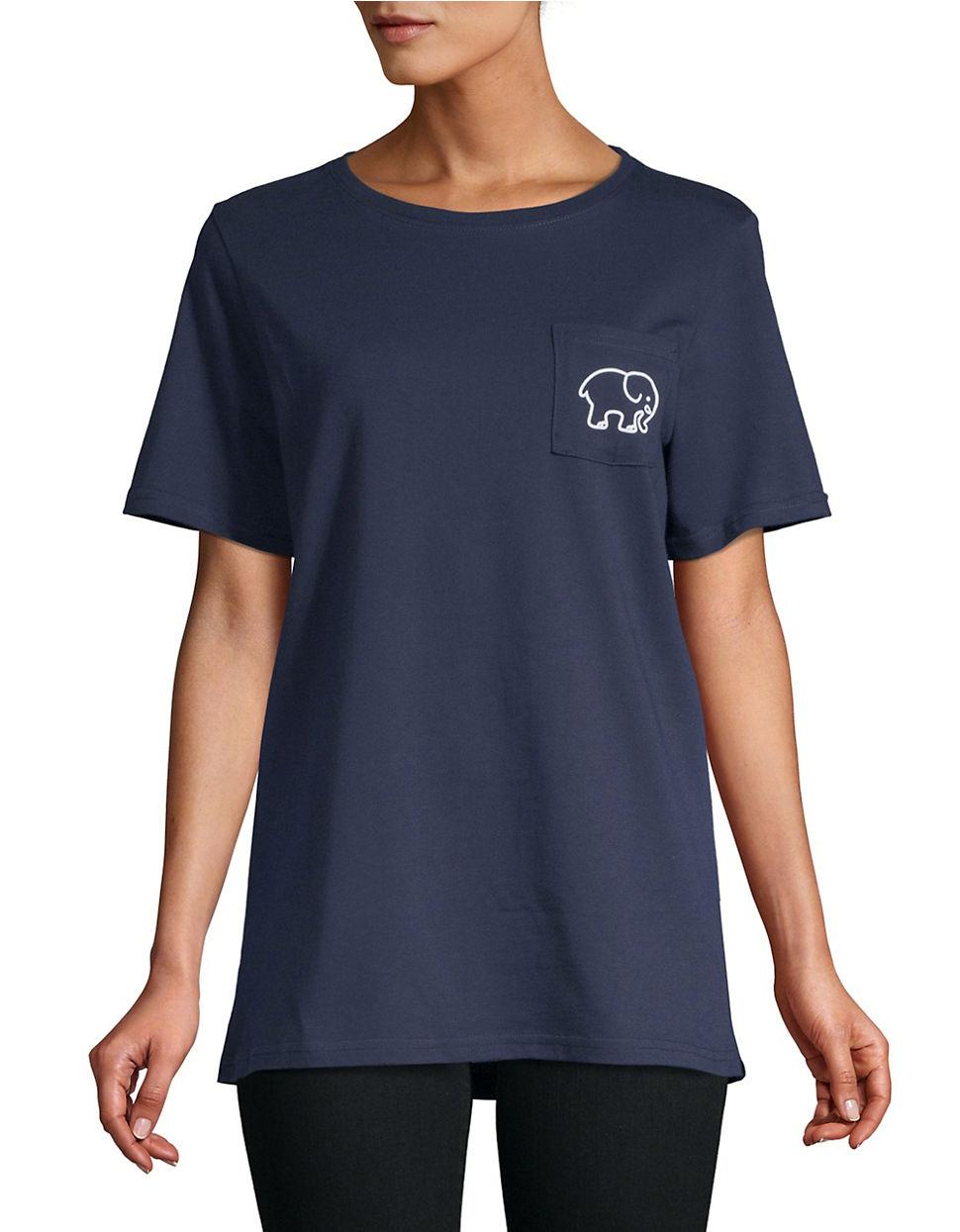 d20cbce3708b Blue Ivory Ella Elephant Pocket Print Long Sleeve Cute Casual .