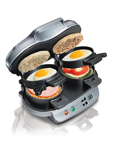 Hamilton Beach Dual Breakfast Sandwich Maker-SILVER-One Size
