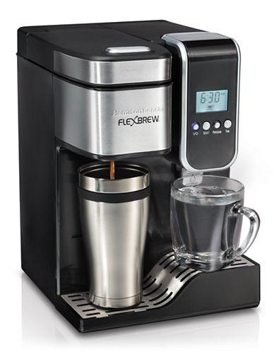 Hamilton Beach FlexBrew Programmable Single-Serve Coffeemaker with Hot Water Dispenser-BLACK-One Size