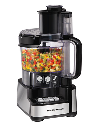 Hamilton Beach Stack and Snap Food Processor-BLACK-One Size 87747396_BLACK_One Size