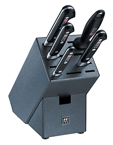Zwilling J.A.Henckels Twin Professional S 6 Piece Knife Block Set-BLACK-One Size