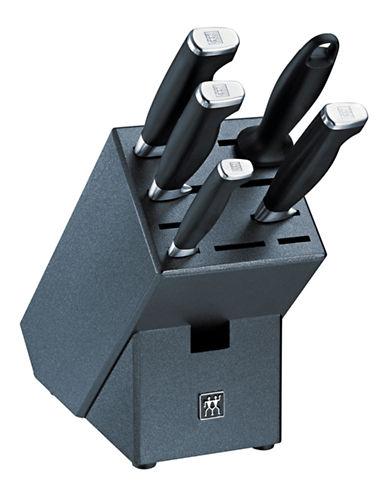 Henckels International Twin Four Star II 6 Piece Block Set-BLACK-One Size