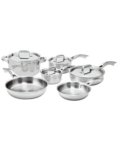 Zwilling J.A.Henckels Truclad 10-Piece Cookware Set - Induction Ready-SILVER-One Size