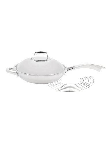 Zwilling J.A.Henckels Truclad 13 Inch Wok with Lid and Rack-SILVER-One Size