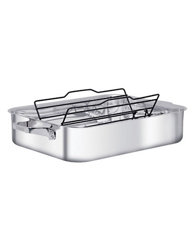 Zwilling J.A.Henckels Truclad 41cm 16 Inch Roaster with Rack-STAINLESS STEEL-One Size