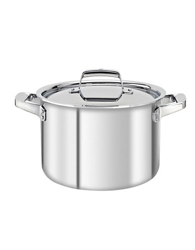 Zwilling J.A.Henckels Truclad 8 quart 7.6 L Stock Pot with Lid-SILVER-One Size