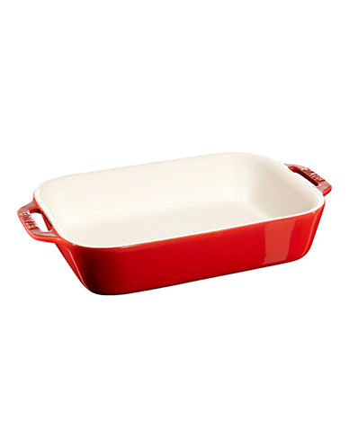 Staub Rectangular Ceramic Dish-CHERRY-One Size