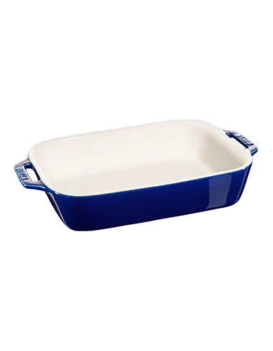 Staub Rectangular Ceramic Dish-DARK BLUE-One Size
