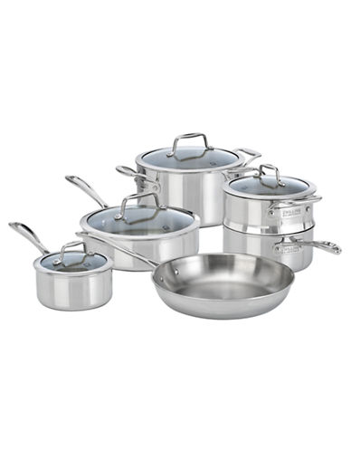 Zwilling J.A.Henckels VistaClad 10-Piece Cookware Set - Induction Ready-STAINLESS STEEL-One Size