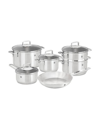 Zwilling J.A.Henckels 10-Piece Quadro 18/10 Stainless Steel Cookware Set - Induction Ready-STAINLESS-10