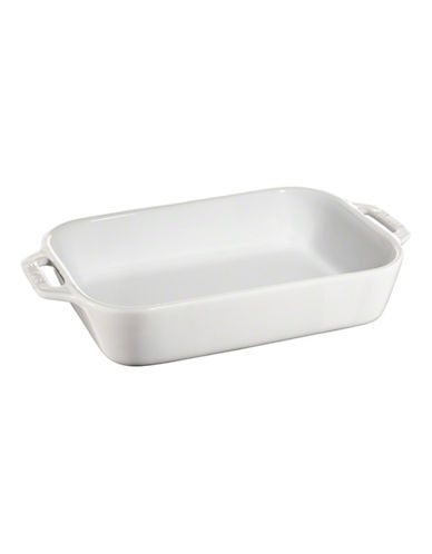 Staub Ceramic Rectangular Dish-WHITE-2L