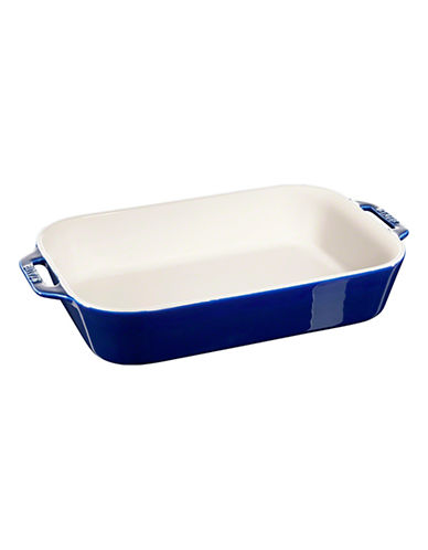 Staub Rectangular Ceramic Dish-DARK BLUE-One Size