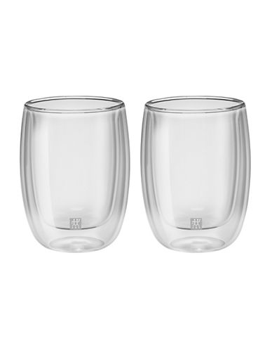 Zwilling J.A.Henckels Sorrento Double Wall Cappuccino Glass Set-CLEAR-One Size