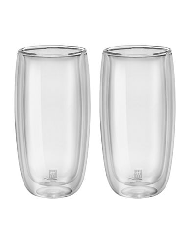 Zwilling J.A.Henckels Sorrento Double Wall Latte Glass Set-CLEAR-One Size