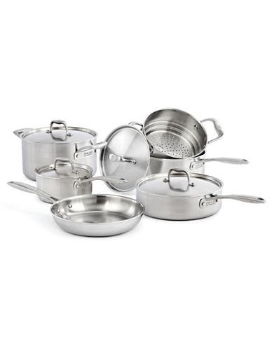 Zwilling J.A.Henckels Zwilling J.A. Henckels Sol II 10-Piece Cookware Set - Induction Ready-SILVER-One Size