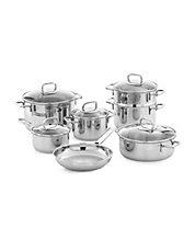 ZWILLING J.A.HENCKELS Quadro 10 Piece Stainless Steel Cookware Set with Bonus Casserole Pot