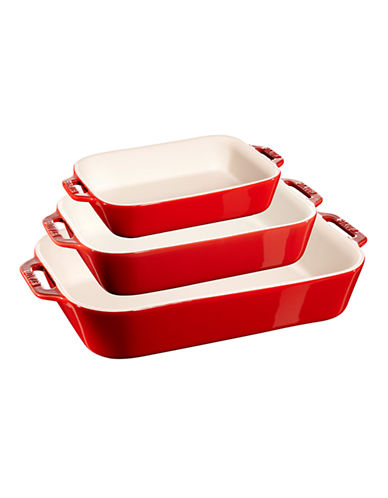 Staub 3 Piece Bake Dish-RED-One Size