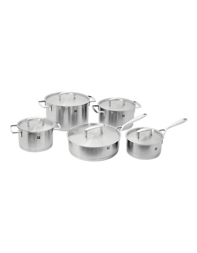 Zwilling J.A.Henckels Passion 10-Piece Stainless Steel Cookware Set - Induction Ready-STAINLESS STEEL-One Size
