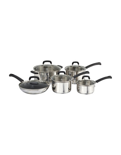 Henckels International Elements 10-Piece Stainless Steel Cookware Set-STAINLESS STEEL-One Size 90012300_STAINLESS STEEL_One Size