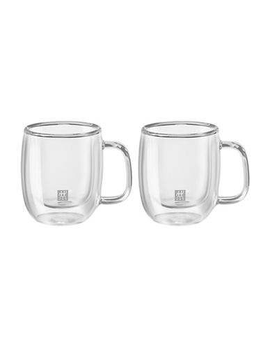 Zwilling J.A.Henckels Sorrento Plus Double Wall Double Espresso Mug Set-CLEAR-One Size