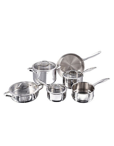 Henckels International Aragon 10-Piece Cookware Set - Induction Ready-STAINLESS STEEL-One Size