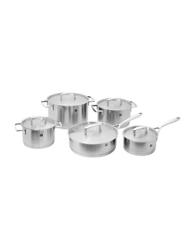 Zwilling J.A.Henckels Passion 10-Piece Stainless Steel Cookware Set - Induction Ready with Bonus 4.5L Oval Cocotte-STAINLESS STEEL-One Size