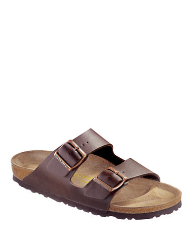 Birkenstock Mens Arizona Sandals-BROWN-EU 42/US 9