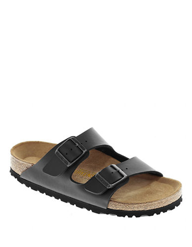 Birkenstock Womens Arizona Two Strap Sandals-BLACK-EUR 39/US 8