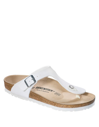 Birkenstock Womens Gizeh Thong Sandals-WHITE-EUR 40/US 9