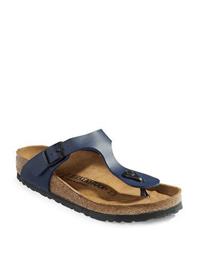 Birkenstock Gizeh Nubuck Thong Sandals-BLUE-EUR 36/US 5
