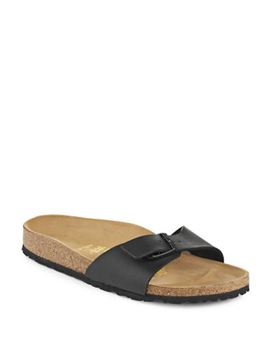 Birkenstock Womens Madrid Sandals-BLACK-EUR 36/US 5