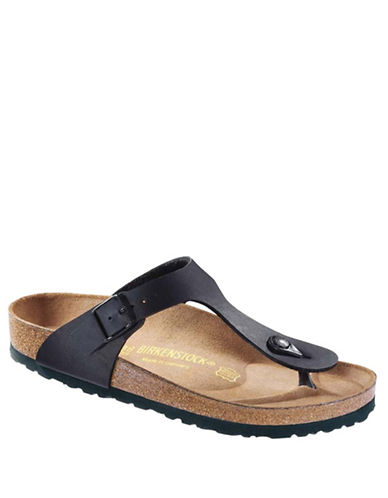 Birkenstock Womens Gizeh Thong Sandals-BLACK-EUR 39/US 8