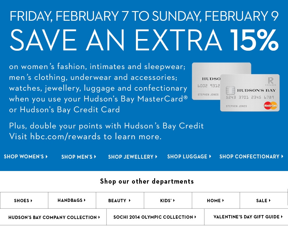 The HBC credit card is marketed as the best way to earn Hudson's Bay rewards points at approved stores around Canada. It functions as a rewards program as well as a store card. Though people can apply separately to the rewards programs, HBC cardholders can double the points they earn at stores.
