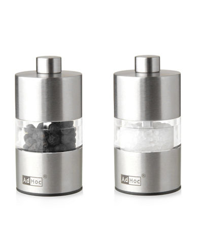 Adhoc Mini Salt and Pepper Set-STAINLESS STEEL-One Size