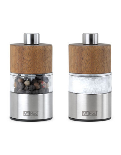Adhoc Manual Mini Pepper and Salt Mills Set-NATURAL-One Size