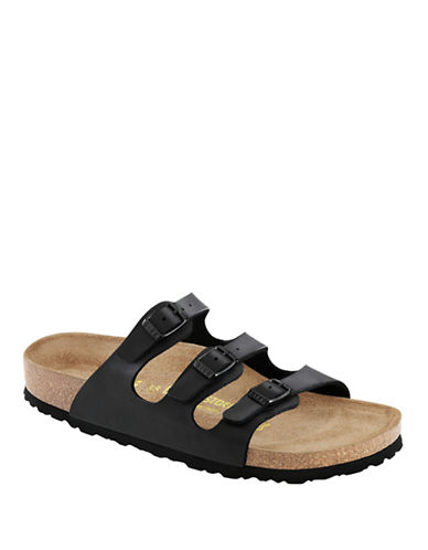 Birkenstock Womens Florida Soft Footbed-BLACK-EUR 36/US 5