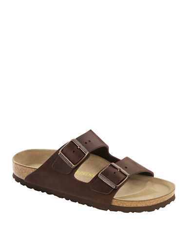 Birkenstock Mens Arizona Sandals-BROWN-EU 44/US 11