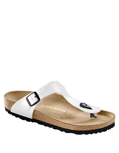 Birkenstock Womens Gizeh Thong Sandals-WHITE-EUR 36/US 5