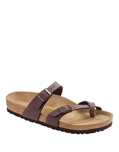 Birkenstock Womens Mayari Toe-Loop Sandals-BROWN-EUR 36/US 5